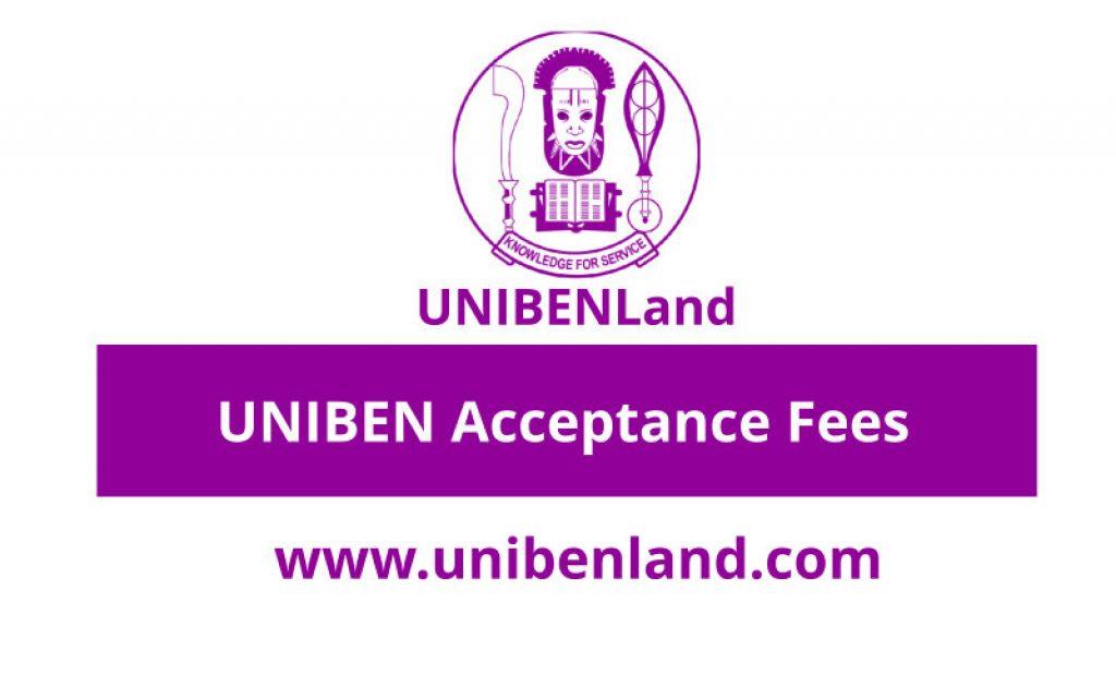 UNIBEN Acceptance Fee