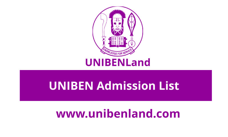 UNIBEN Admission List