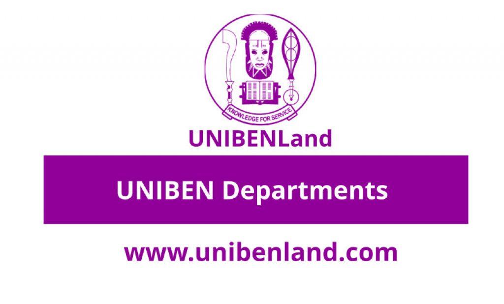 UNIBEN Departments